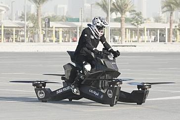 Полиция Дубая осваивает российские летающие мотоциклы